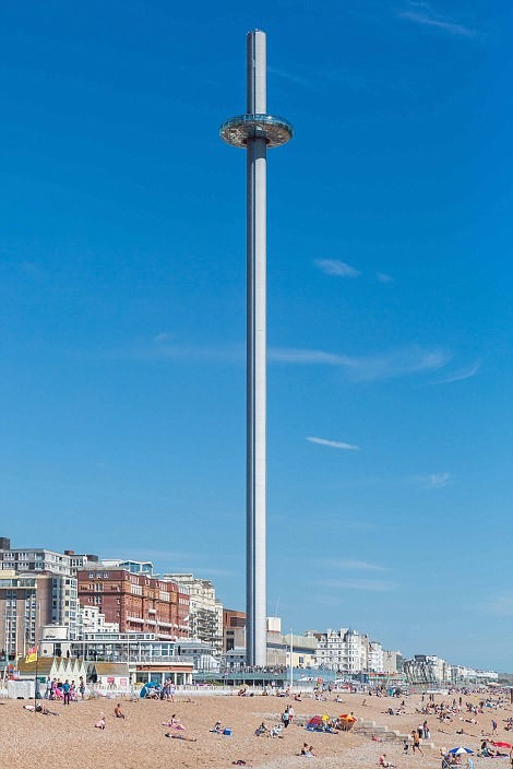 Смотровая башня British irways i360, Брайтон архитектура, дома, здания будущего, красота, необычно, проекты, строения, творчество