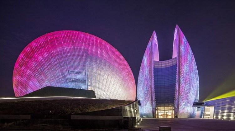 Дом оперы в Чжухае, Китай архитектура, дома, здания будущего, красота, необычно, проекты, строения, творчество