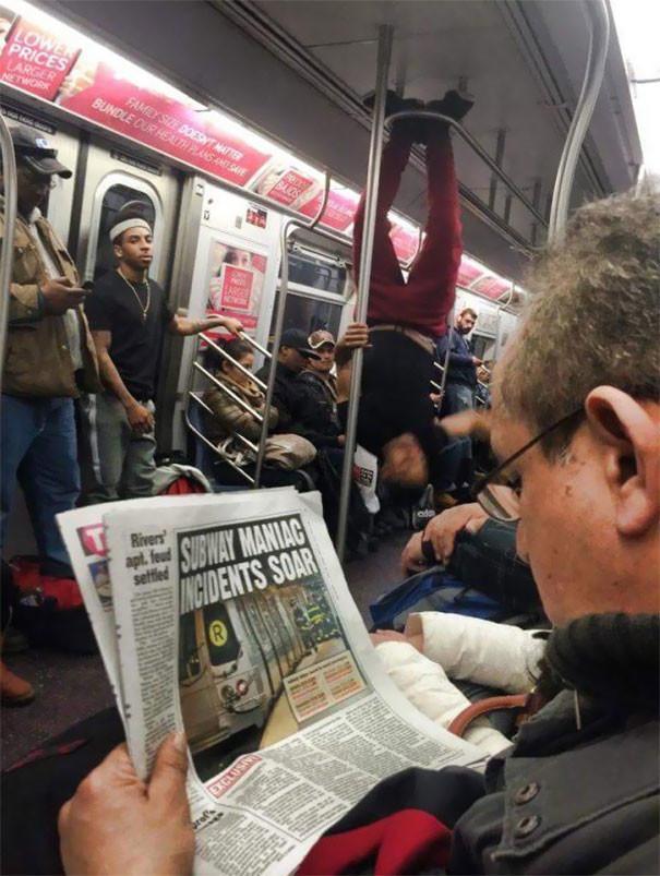 И снова в метро Нью-Йорка  люди, метро, мир, подземка, прикол, фото, фрик, юмор