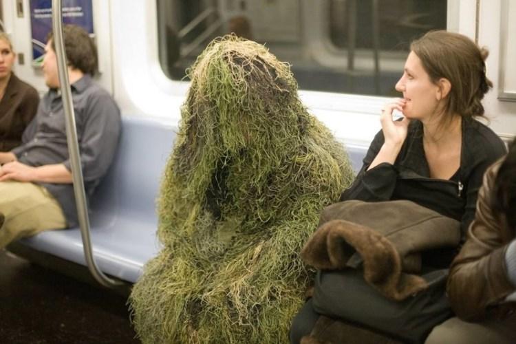 Лесной люди, метро, мир, подземка, прикол, фото, фрик, юмор