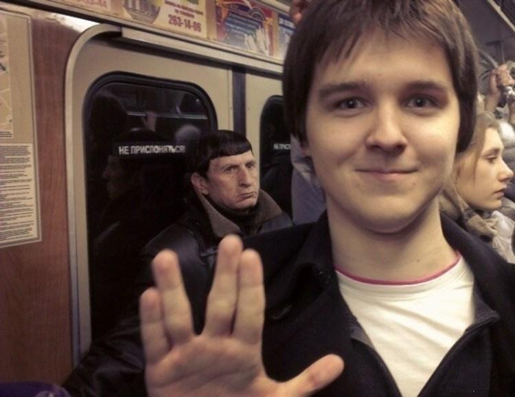 """""""Звездный путь"""" люди, метро, мир, подземка, прикол, фото, фрик, юмор"""