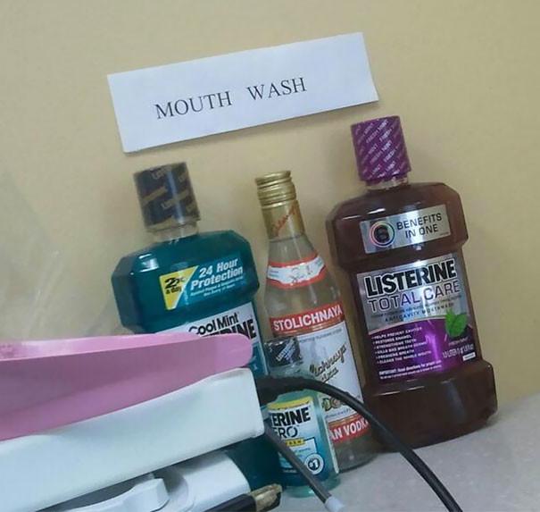 """""""Жидкости для полоскания рта"""" врачи, дантисты, забавно, зубной врач, приколы, стоматологи, фото, юмор"""