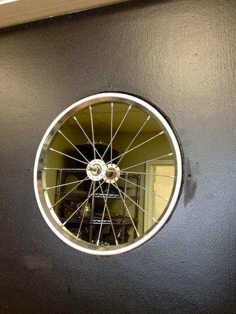 14. Окно в другую комнату велосипед, интересно, колесо, очумелые ручки, своими руками, фото