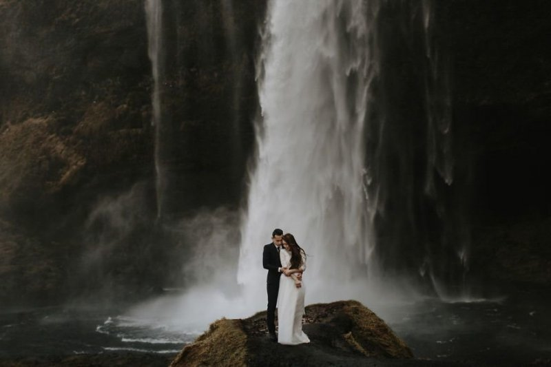 Водопад Сельяландсфосс, Исландия. Любовь, отношения, свадебное фото, свадьба, фото, фотограф, фотография
