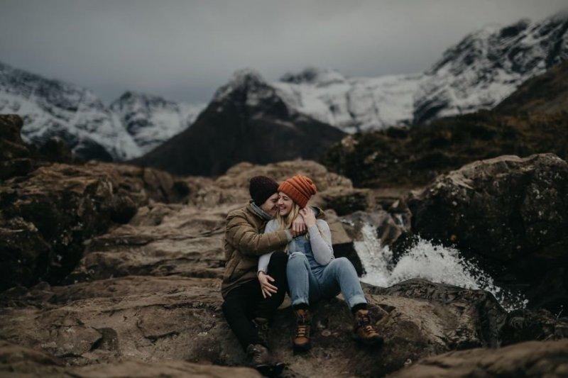 Бассейны Феи, остров Скай, Шотландия. Любовь, отношения, свадебное фото, свадьба, фото, фотограф, фотография