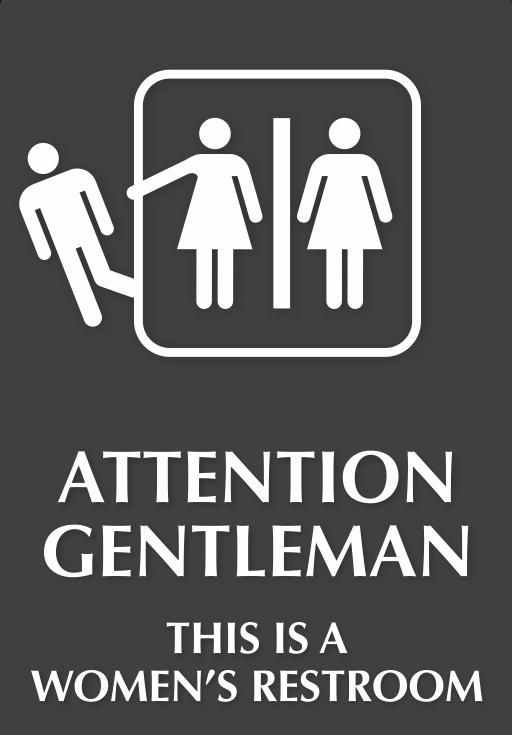 Внимание, джентельмены, это дамская комната! комната для девочек, смешно, туалетные таблички, уборная, указатели, юмор