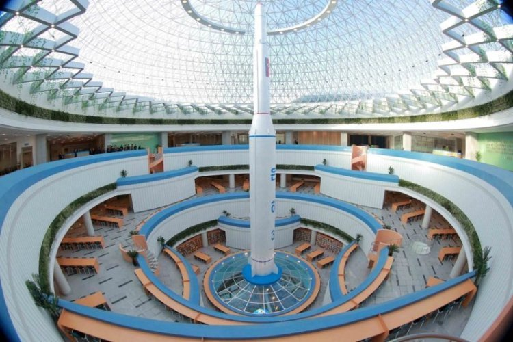 Научно-Технический комплекс изнутри архитектура, здание, красота, мире, северная корея