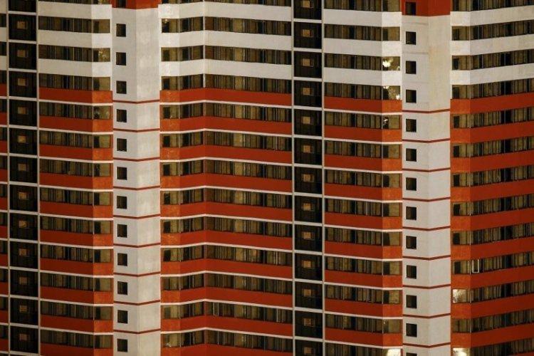 Новые жилые многоэтажки в центре Пхеньяна выглядят так архитектура, здание, красота, мире, северная корея