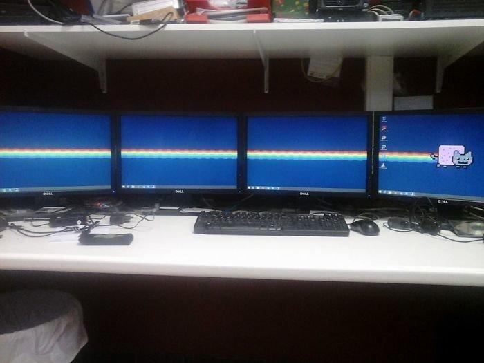 Лучшая заставка на 4 монитора  заставка, идея, монитор, обои, подборка, рабочий стол, фон, фотография