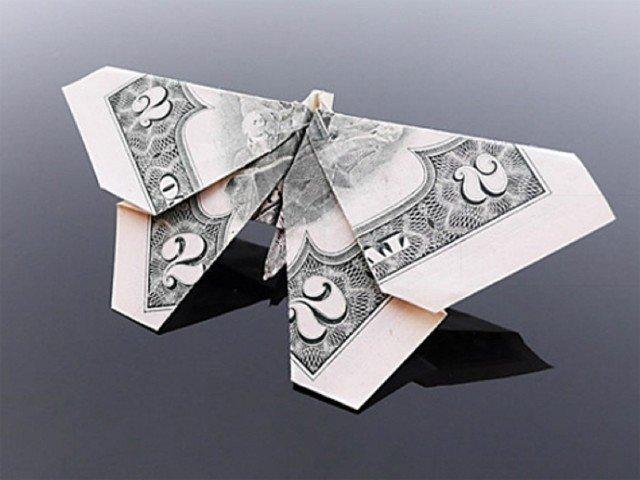 Из денег Фабрика идей, бумага, искусство, красота, мастерство, оригами