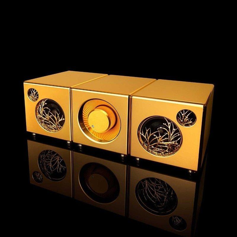 Акустическая система Pure Gold $5,000,000 богато, вещи, дорого, миллиардеры, покупки