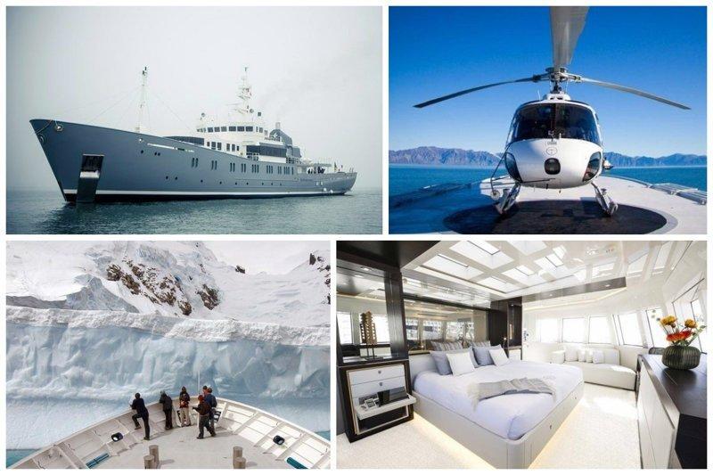 А если вам надоели гости, зашлите их в круиз в Антарктиду на 71 метровой на люксовой яхте Enigma XK, 16 дней, 10 человек  €250,000 богато, вещи, дорого, миллиардеры, покупки