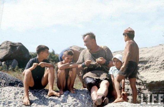 Алексей Смирнов на съёмках фильма «Айболит 66», 1965 год СССР, история, фотографии