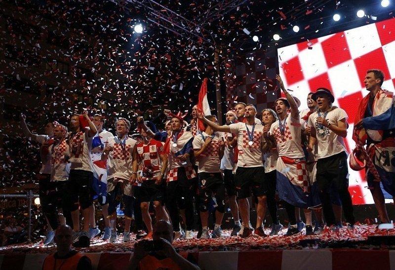 Хорватских футболистов на родине встречали как героев ynews, национальная сборная Хорватии, национальное торжество, новости, торжественная встреча, футбол, хорватия, чемпионат мира