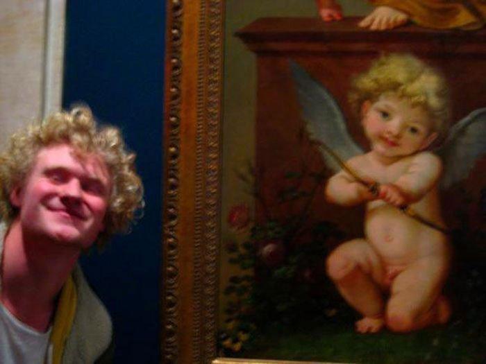6. Купидон повзрослел. Веселые, музей, портрет, произведение искусства, реинкарнация, фантазия