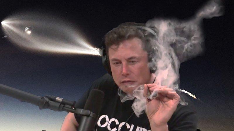 Накосячил: Илон Маск покурил травку в прямом эфире Joe Rogan, ynews, youtube, Илон Маск, Эфир, калифорния, комик, косяк