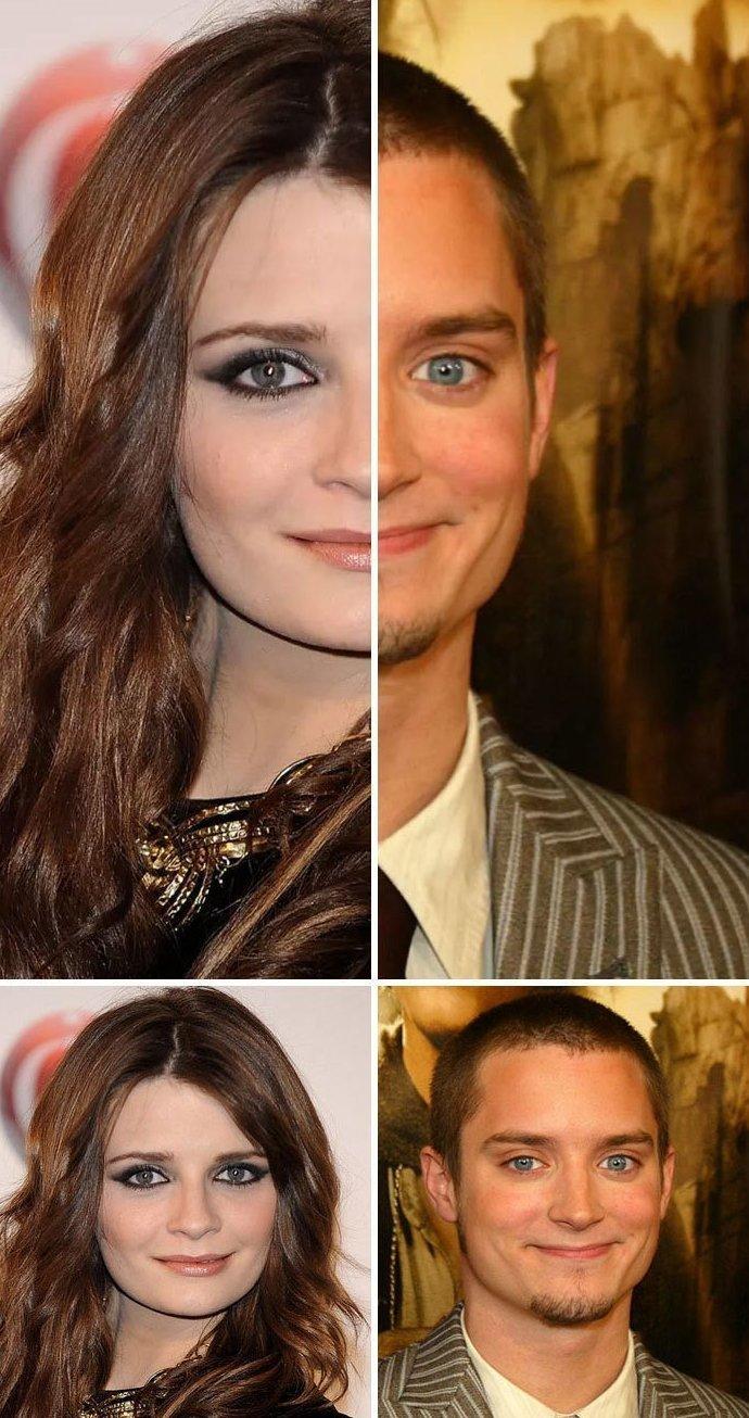 18. Миша Бартон и Элайджа Вуд актер, актриса, внешность, двойник, звезды, знаменитости, сходство