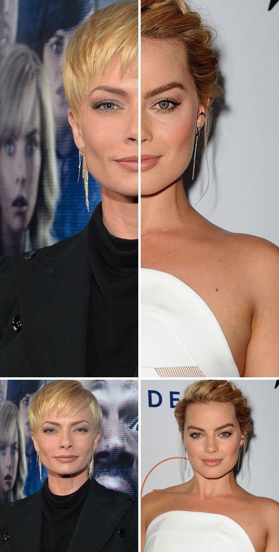 5. Джейми Прессли и Марго Робби актер, актриса, внешность, двойник, звезды, знаменитости, сходство