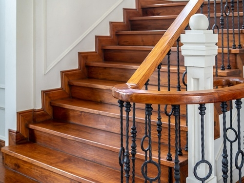 2020 Cost To Build Stairs Interior Staircase Installation Cost | Glass Stair Treads Cost | Floating | Steel | Handrail | Hardwood | Wood