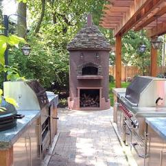 Outdoor Kitchen Cost Hutch For To Install An Estimates And Prices At Fixr National Average