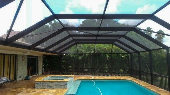 Pool Screen Enclosure in Houston TX  FDR Custom
