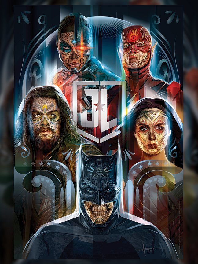 Animated Skull Wallpaper Justice League Celebrates Day Of The Dead With New Posters