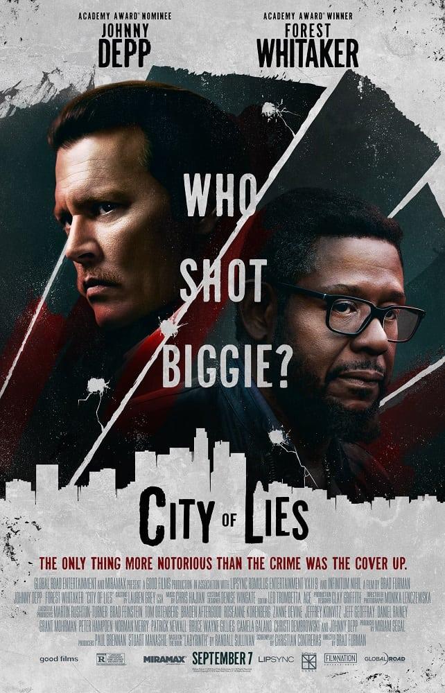city of lies poster asks who shot biggie