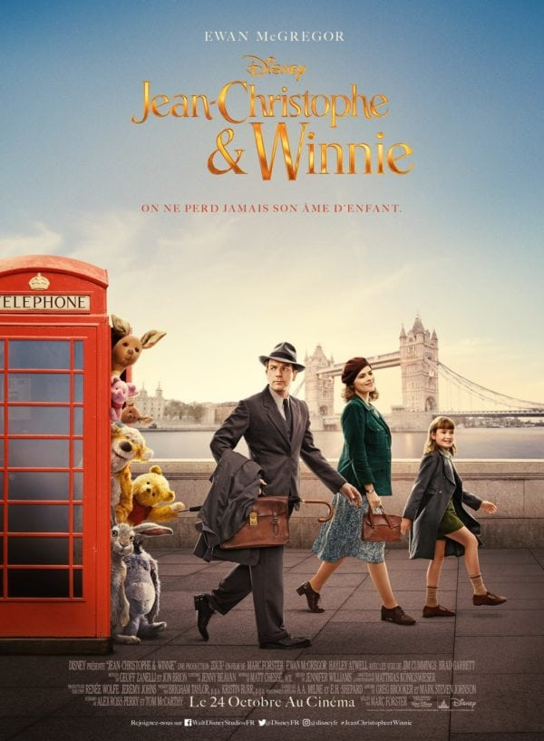 Christopher Robin Character Posters Featuring Winnie The