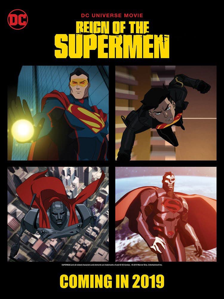 The Fall Wallpaper Movie Reign Of The Supermen Poster Features Eradicator Superboy