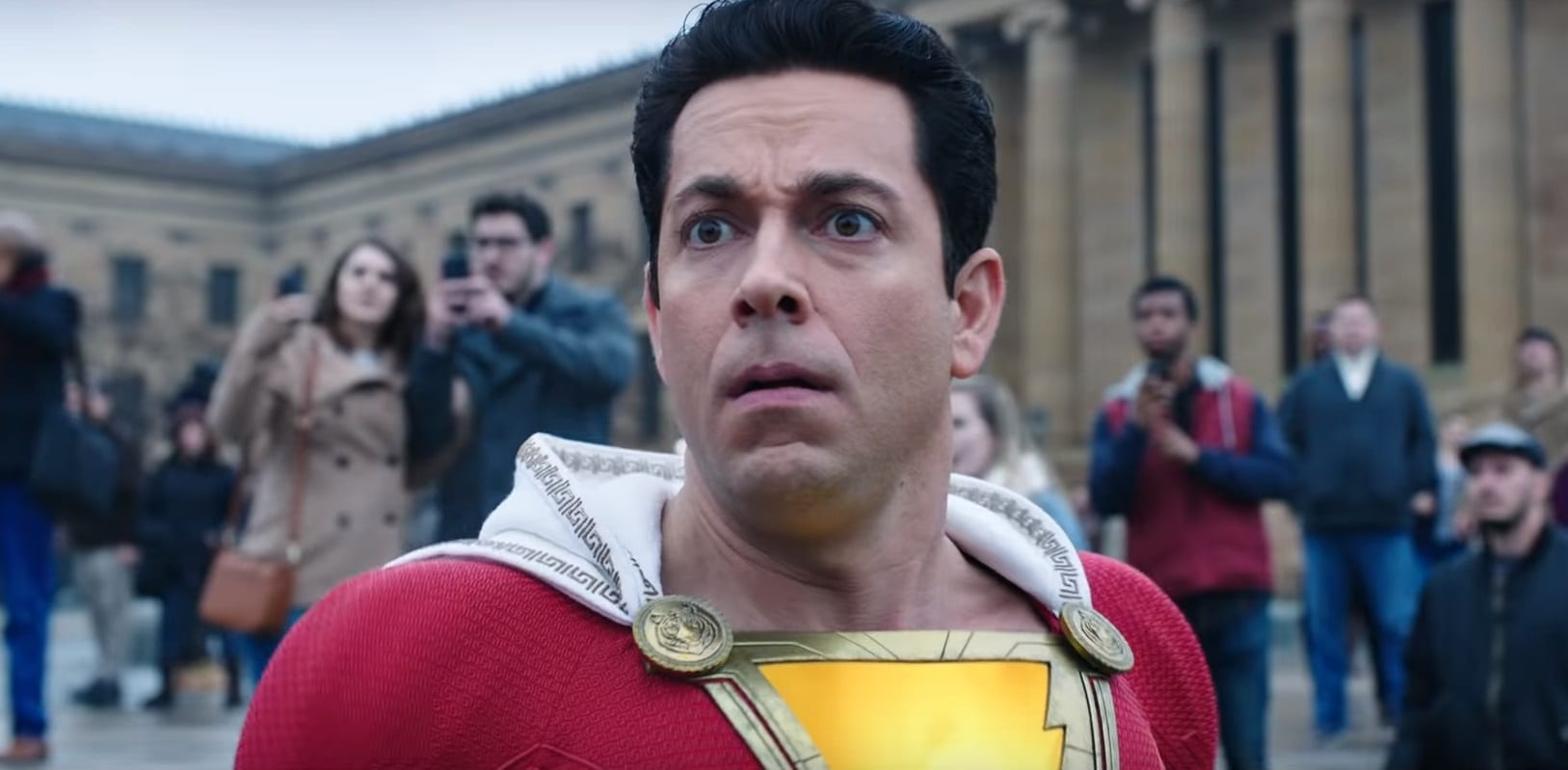 Zachary Levi reveals the worst part of wearing the Shazam costume  Flickering Myth