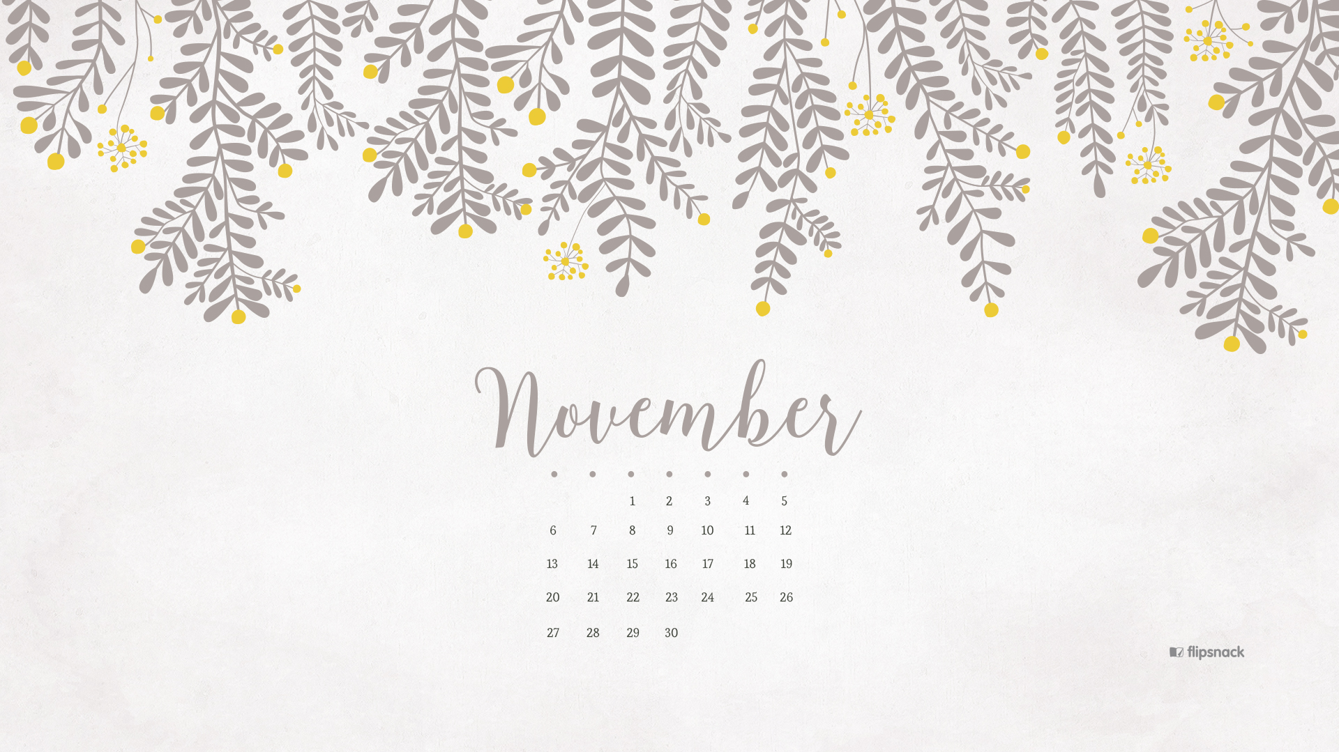 November 2016 free calendar background