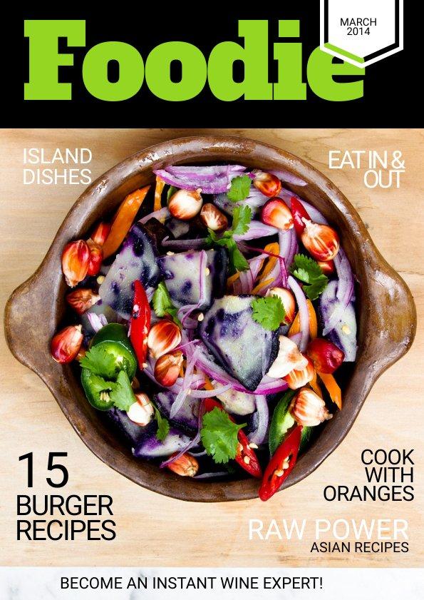 Impactante Plantilla Para Portada de Revista de Cocina  Flipsnack