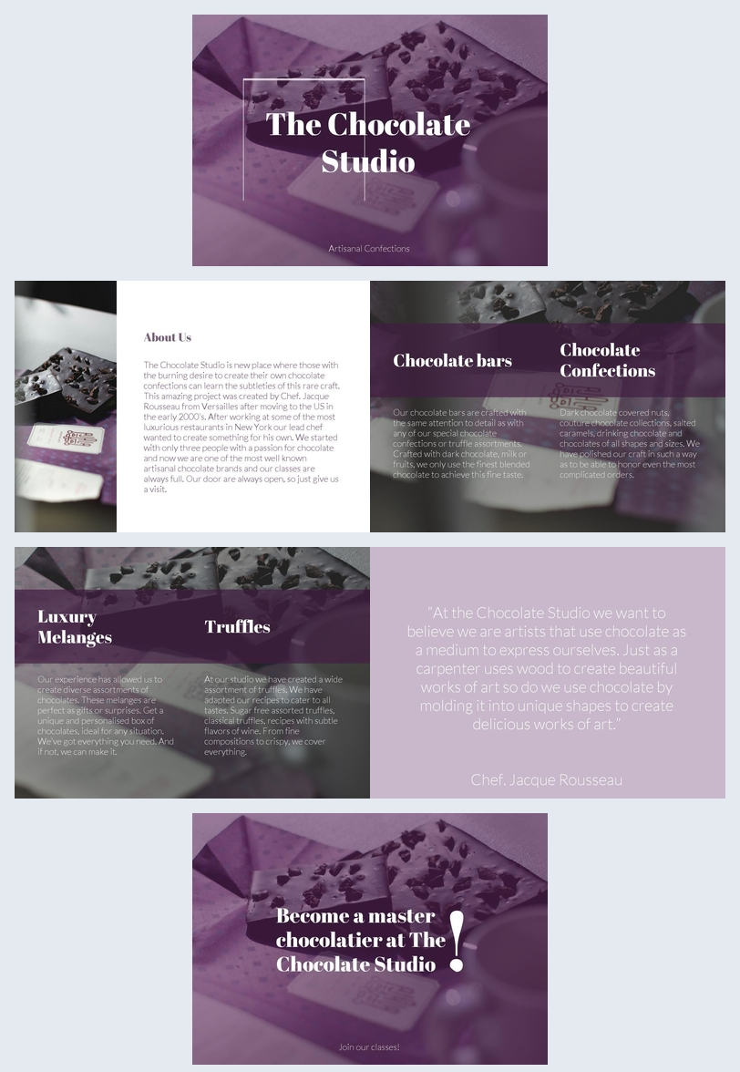 Elegant Chocolate Shop Brochure Template  Flipsnack