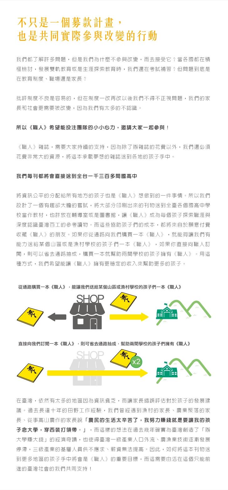 《職人》SHOKUZiNE──讓臺灣看見專業募資計畫 | flyingV