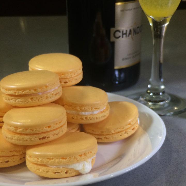 champagne-macarons