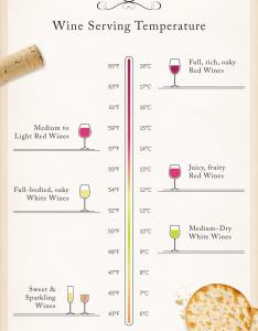 If you want to ensure your wines are always served at the ideal temperature it   well worth investing in  wine cooler also this series of charts will have looking like an expert rh foodbeast