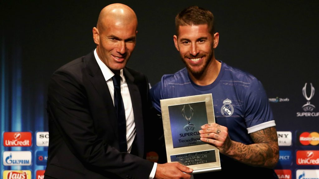 Zineidne Zidane and Sergios Ramos - Real Madrid, La Liga Fantasy in FootballCoin