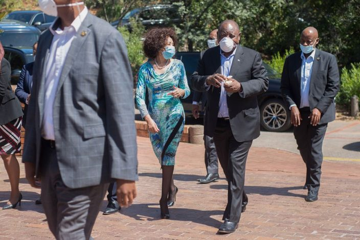 South African President Cyril Ramphosa visits Rand Water after Covid-19 outbreak