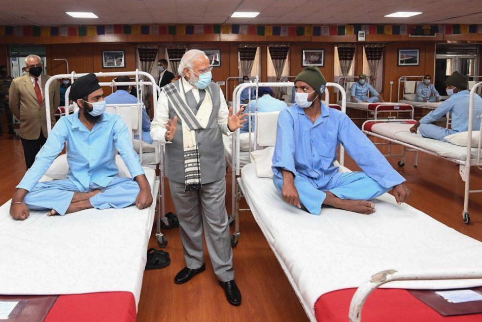 Indian PM Narendra Modi visits troops