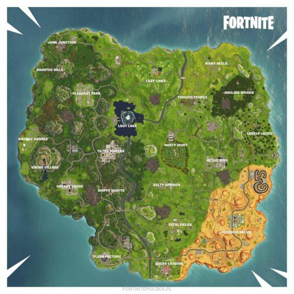 Mapa Na 6 Sezon Fortnite Latajce Wyspy Zamek