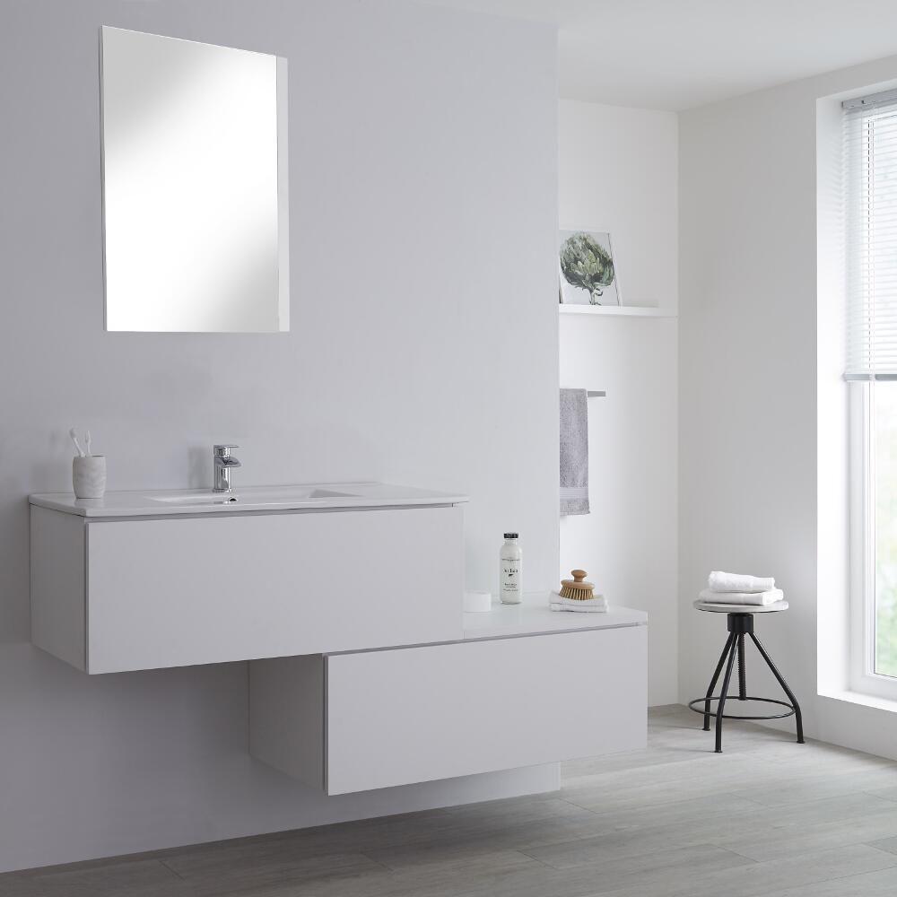 meuble salle de bain blanc avec vasque newington 160cm