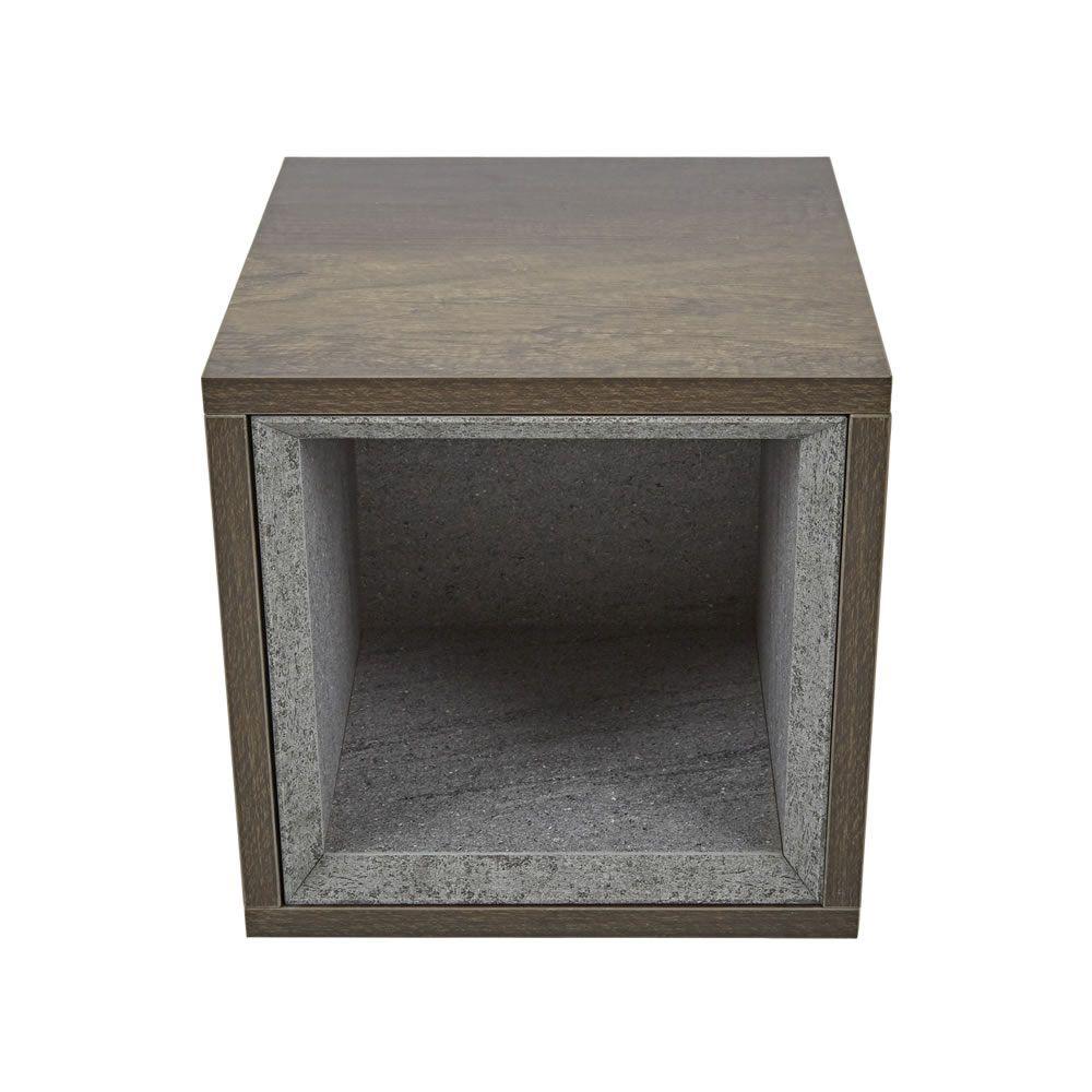 petit meuble de rangement salle de bain 1 unite 30x30cm hoxton chene fonce