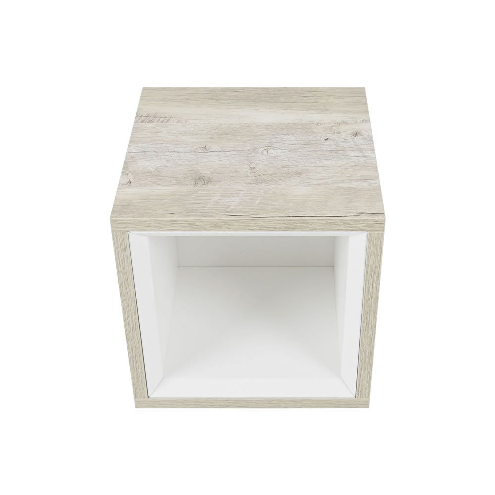 petit meuble salle de bain 1 niche 30x30cm hoxton chene clair
