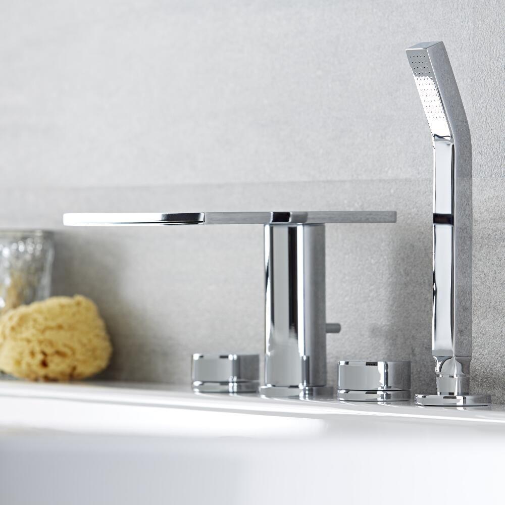 robinet baignoire avec douchette cascade