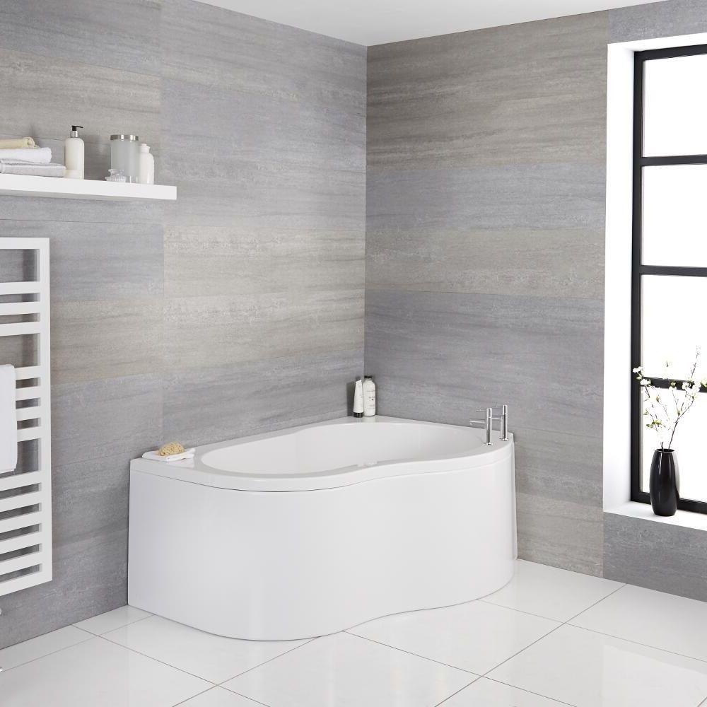 baignoire d angle droit 150 x100 cm ashbury