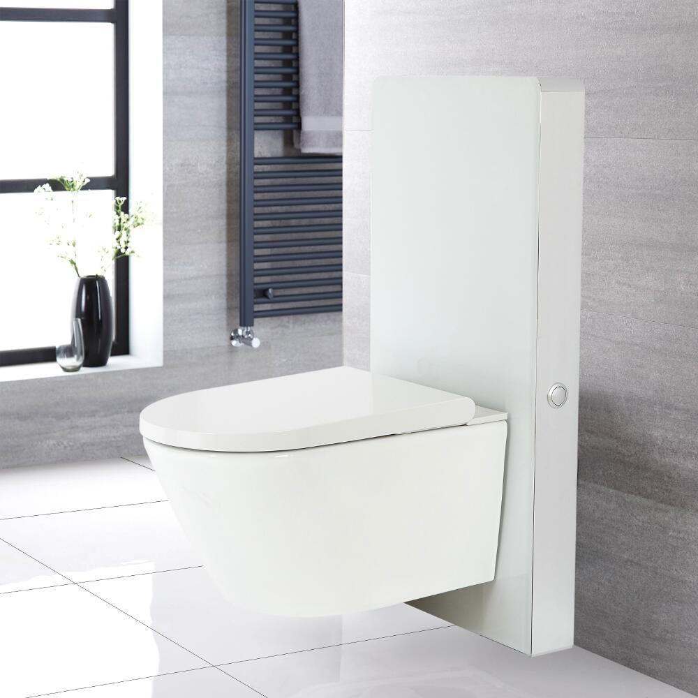 wc japonais hirayu avec meuble 50 cm blanc saru