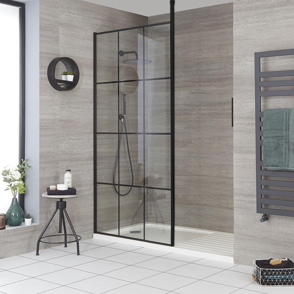 douche italienne moderne avec verriere et receveur choix de tailles barq
