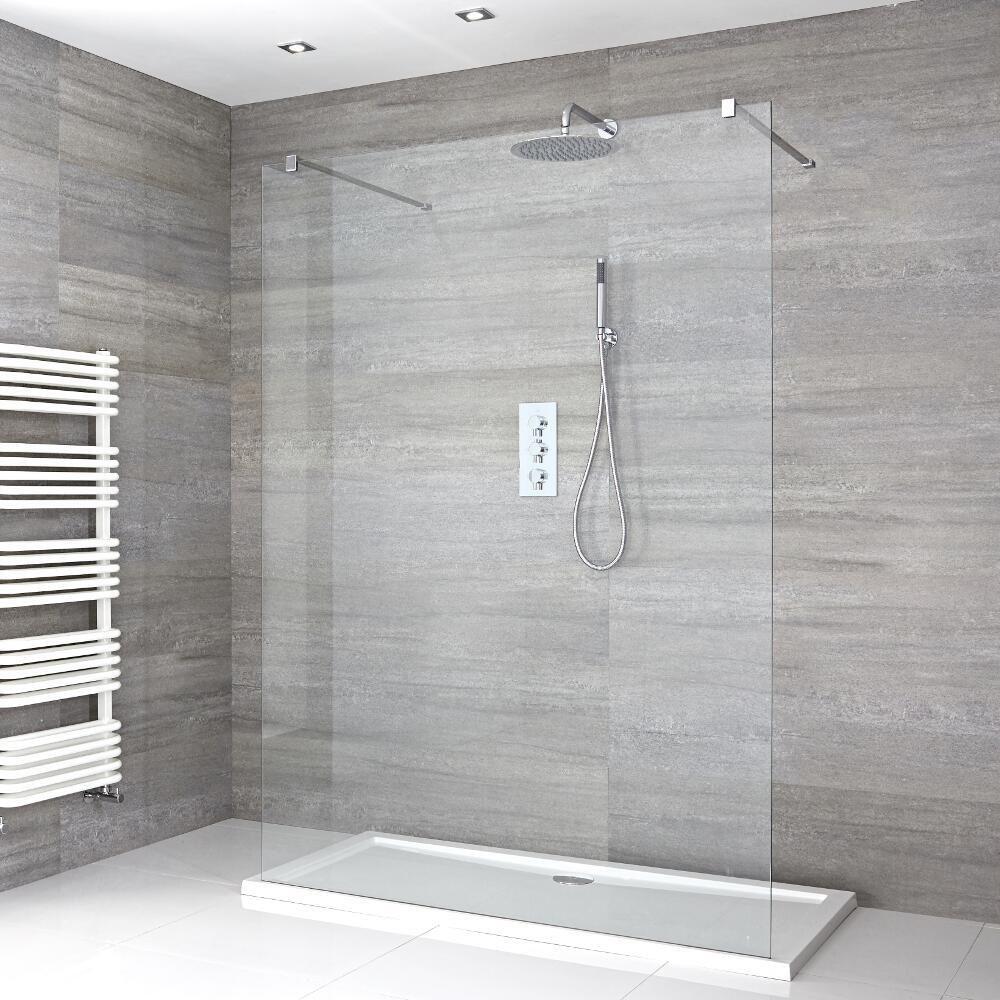 douche italienne avec receveur de douche a profil bas multiples tailles disponibles portland