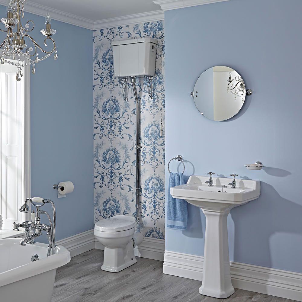 WC Rtro  Blanc  Chasse deau Haute