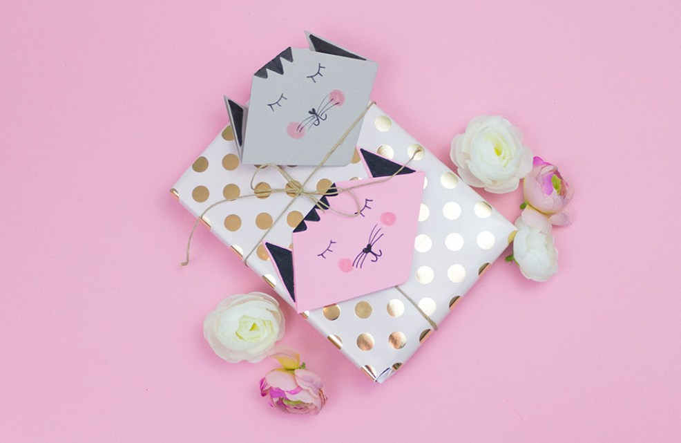 diy deko origami katzen als wanddeko und geschenkidee basteln. Black Bedroom Furniture Sets. Home Design Ideas